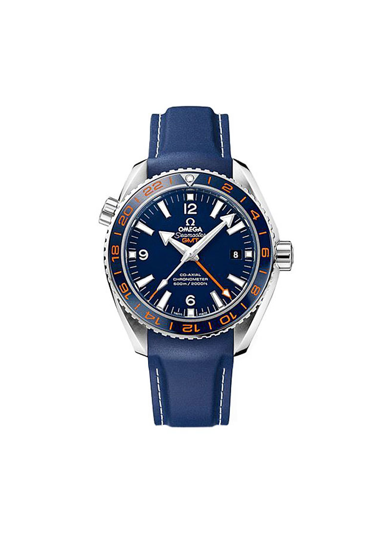 Omega Seamaster Planet Ocean GMT in Steel with Blue Bezel