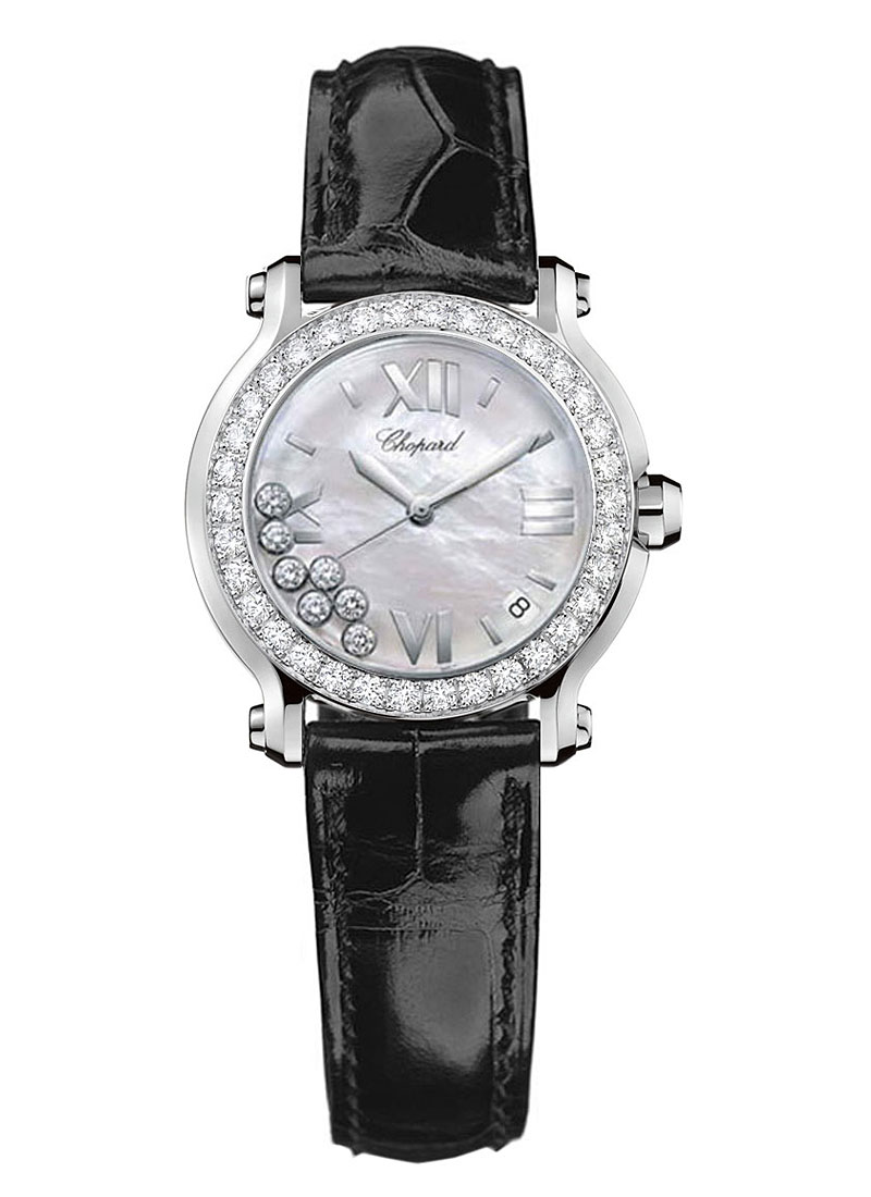 Chopard Happy Sport Round 36mm in Steel with Diamonds Bezel