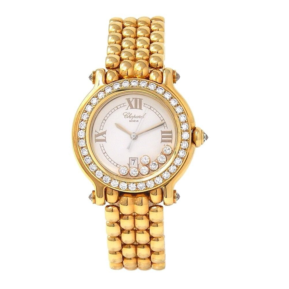 Chopard Happy Sport Round in Yellow Gold with Diamond Bezel