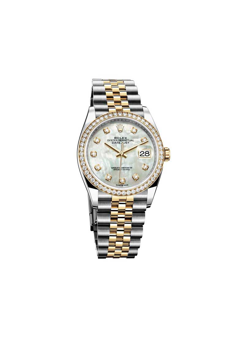Rolex Unworn 2-Tone Datejust 36mm With Diamond Bezel