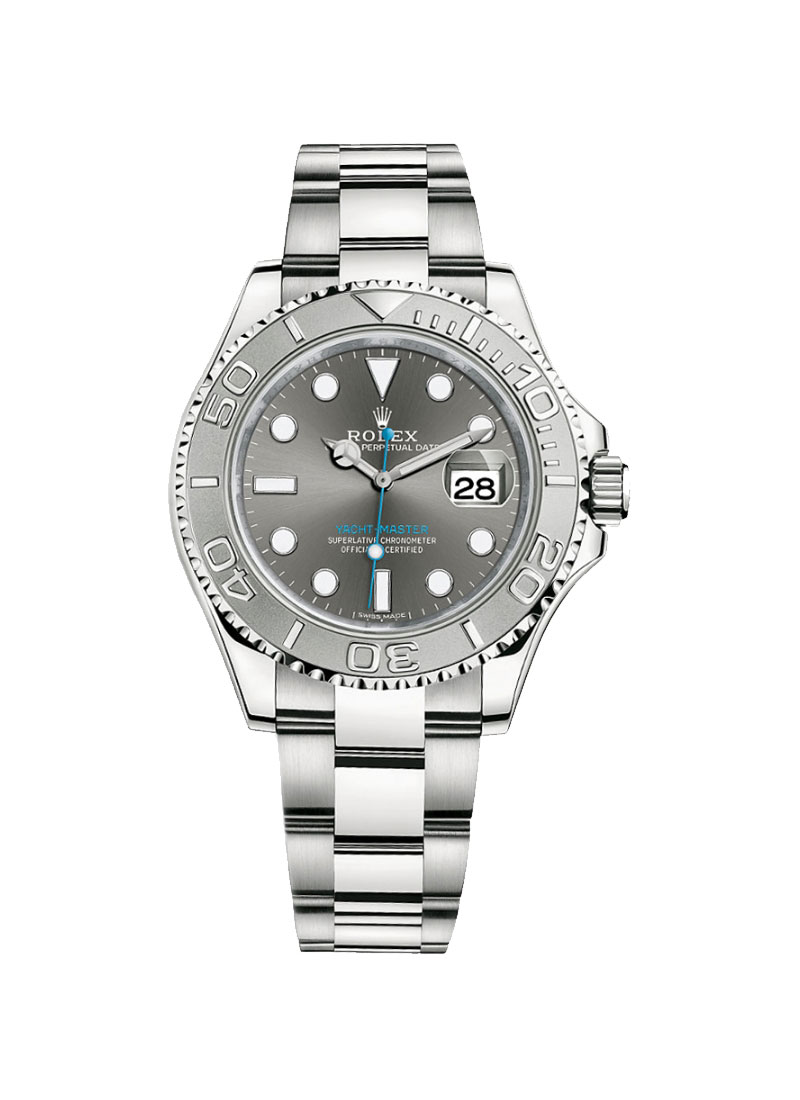 Pre-Owned Rolex Yachtmaster Men's 40mm in Steel with Platinum Bezel