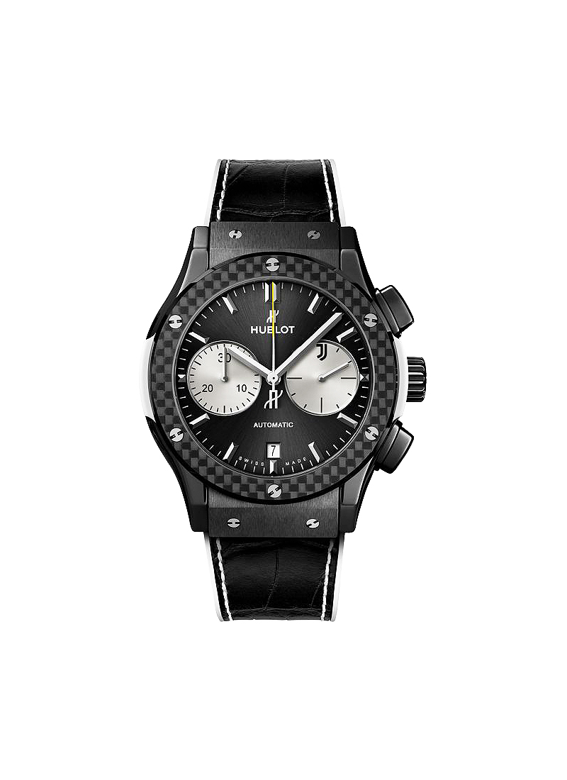 Hublot Classic Fusion Chronograph Juventus 45mm Automatic in Black Ceramic