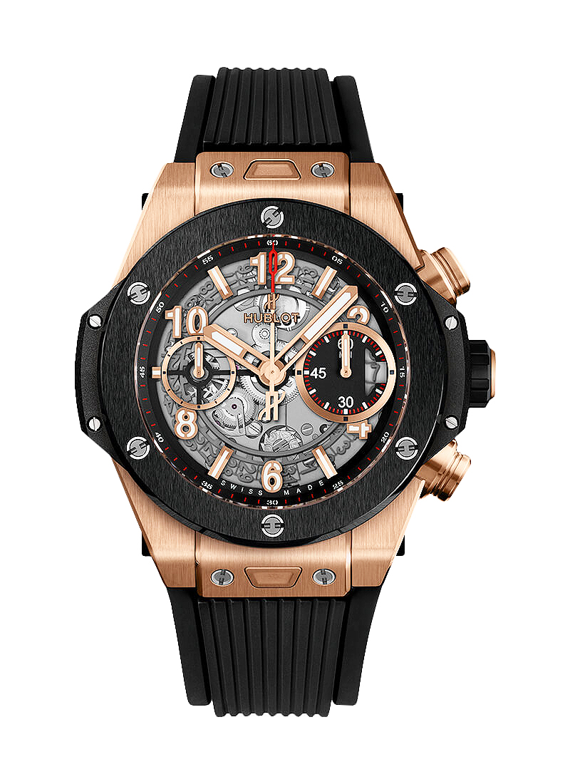 Hublot Big Bang Unico in Rose Gold with Black Ceramic Bezel