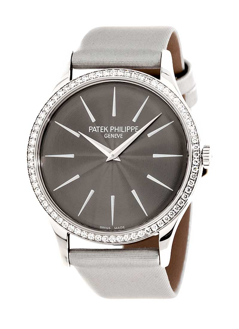 Patek Philippe Calatrava in White Gold with Diamond Bezel