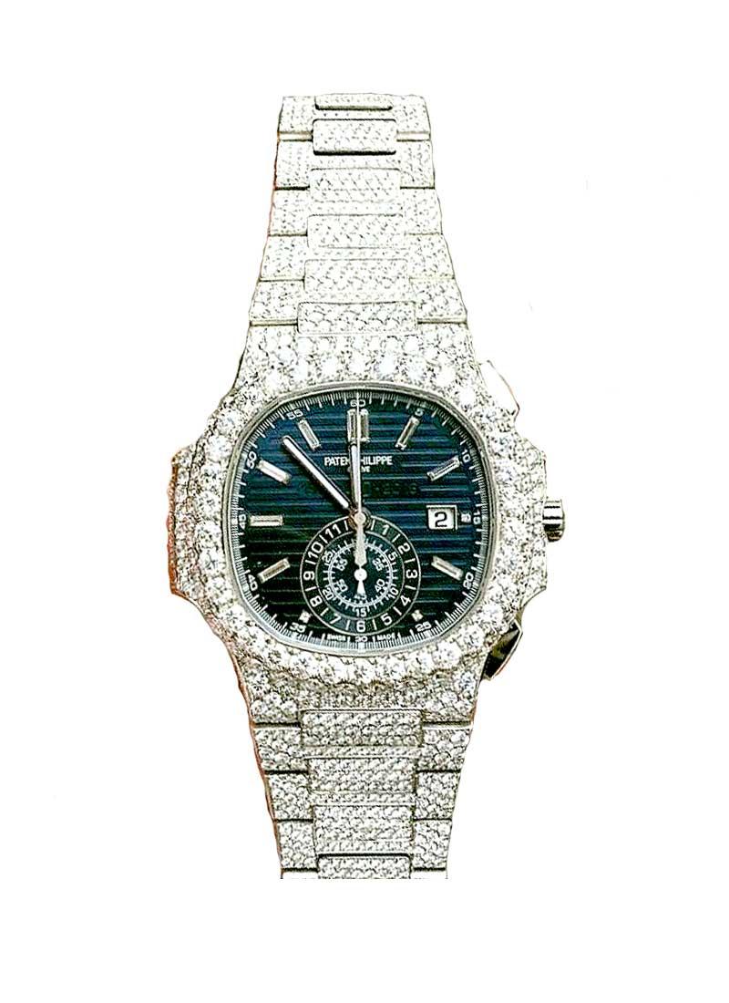 Patek Philippe Nautilus 5976 40th Anniversary in White Gold with Diamond Bezel