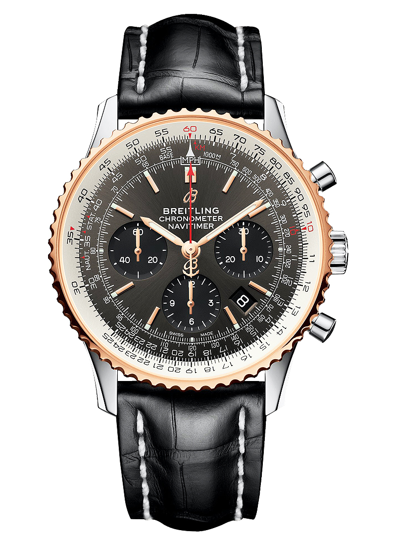 Breitling Navitimer 01 B01 Chronogaph in Steel with Rose Gold Bezel