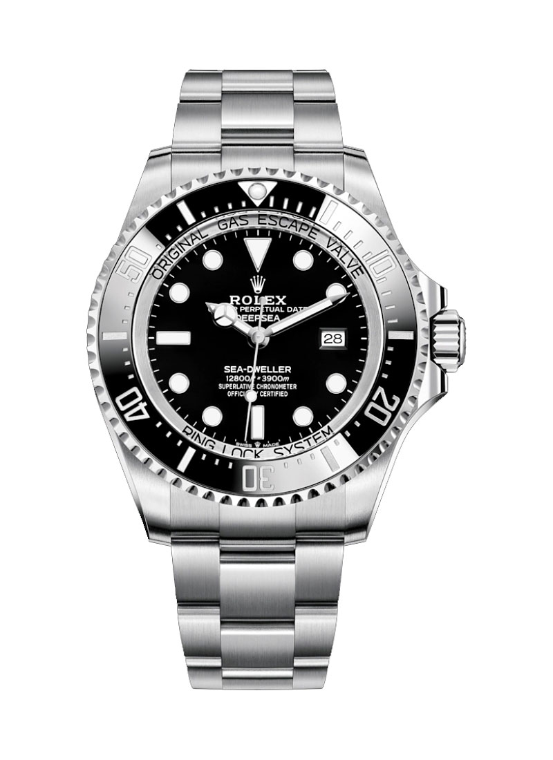 Rolex Used Sea Dweller Deep Sea in Steel with Black Bezel