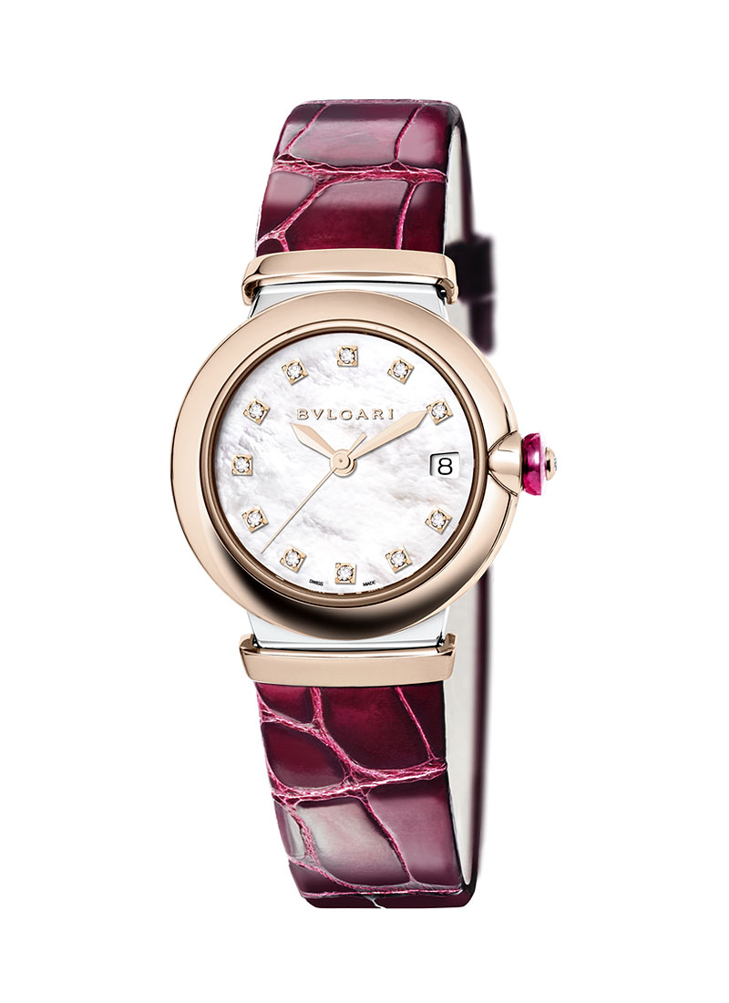 Bvlgari Lucea Automatic 33mm in Steel and Rose Gold