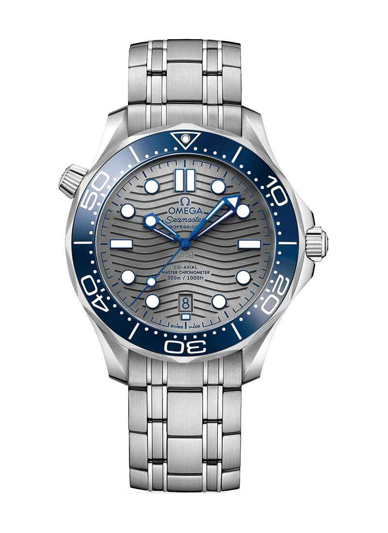 Omega Seamaster Diver 300M Co-Axial Master Chronometer in Steel with Blue Bezel