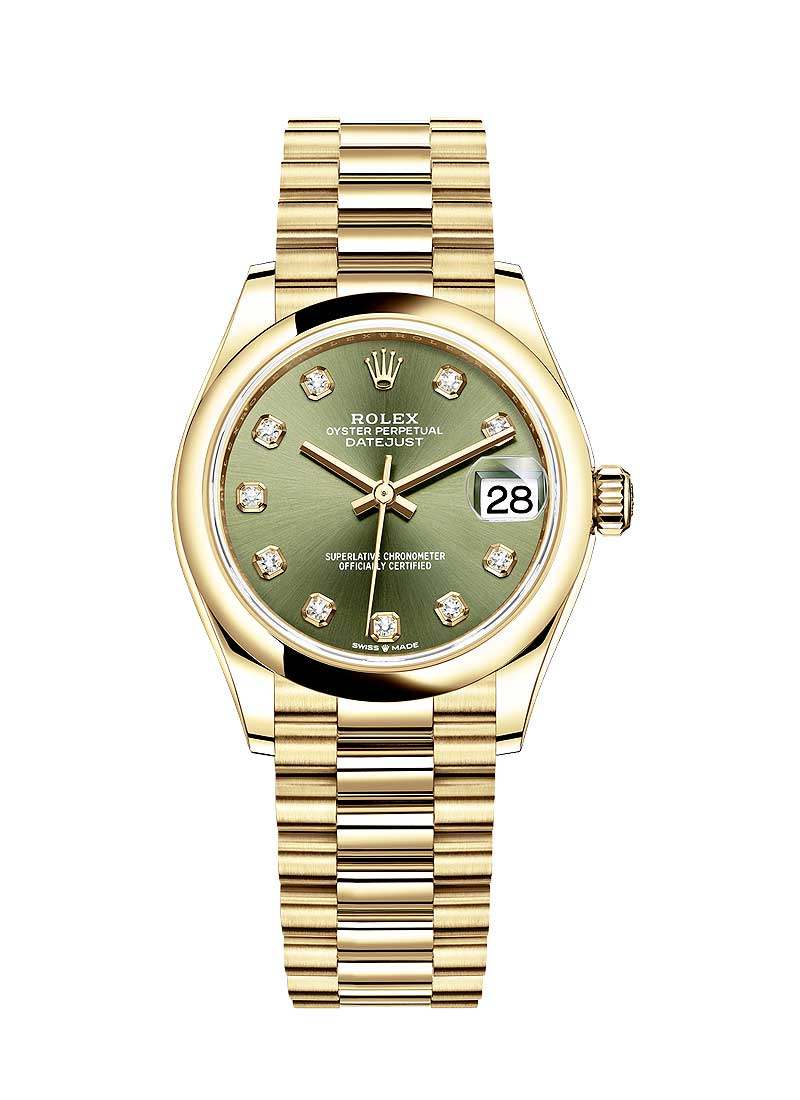 Rolex Unworn Datejust 31mm in Yellow Gold with Domed Bezel