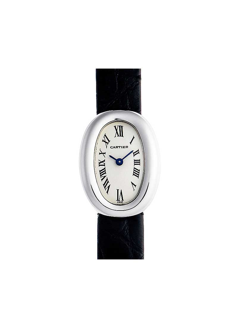 Cartier Baignoire 17mm in White Gold