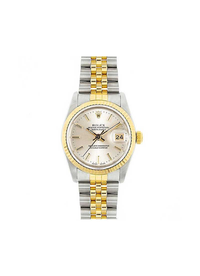 Rolex Used Mid Size 31mm Datejust in Steel with Yellow Gold with Fluted Bezel