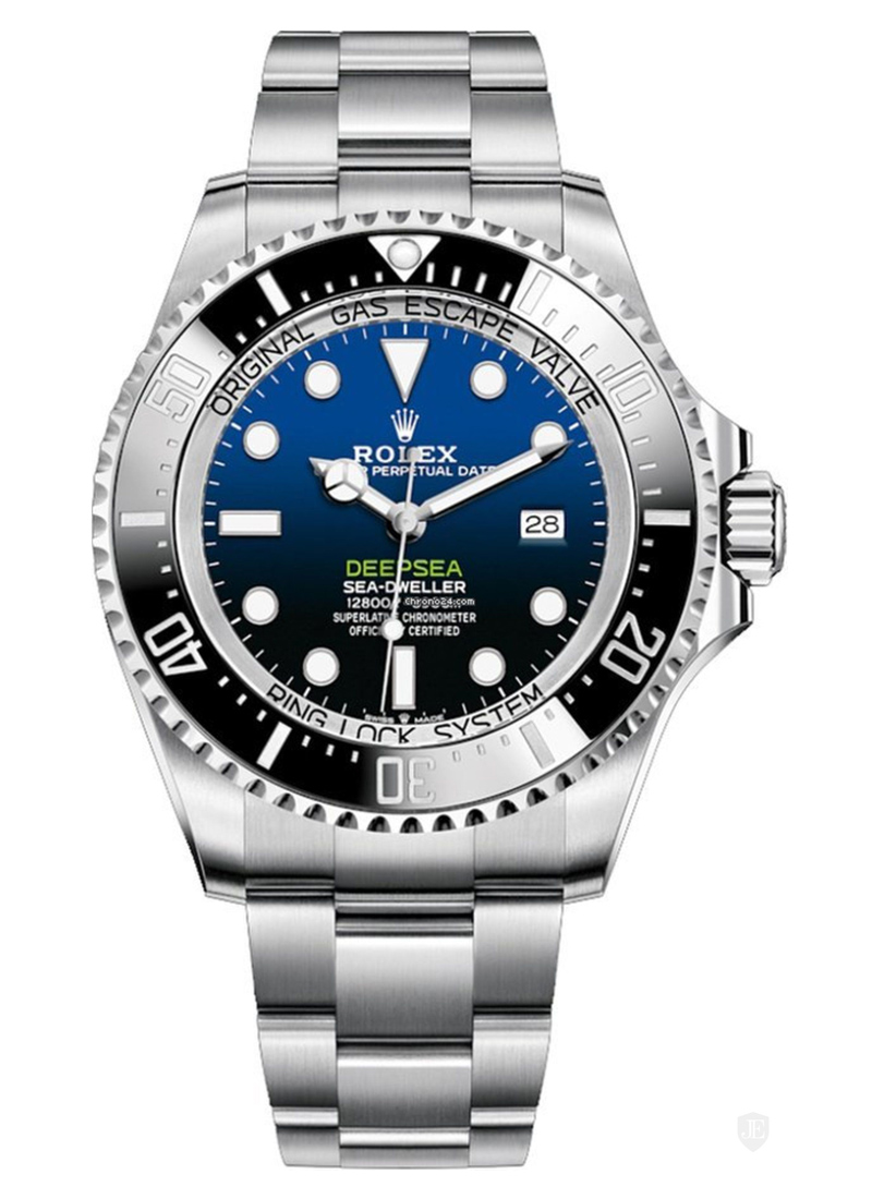 Pre-Owned Rolex Sea Dweller Deep Sea in Steel with Black Bezel