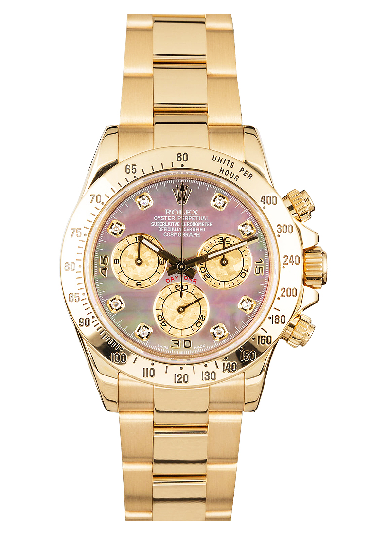 Pre-Owned Rolex Daytona Chronograph in Yellow Gold with Techymeter Bezel