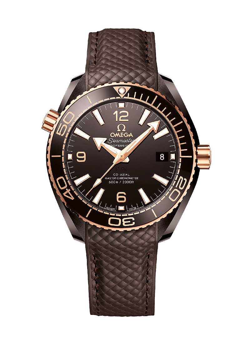 Omega Seamaster Planet Ocean 600M Co-Axial 39.5 Master Chronometer GMT Brown ceramic case