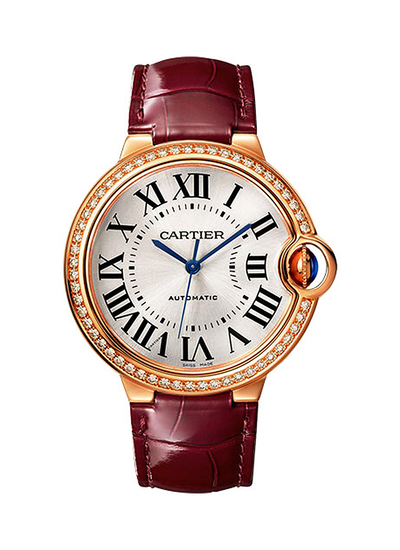 Cartier Ballon Bleu de Cartier in Rose Gold with Diamond Bezel