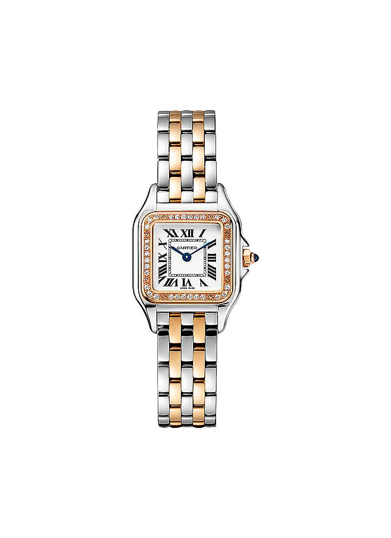 Cartier Panthere de Cartier in Steel with Rose Gold with Diamond Bezel