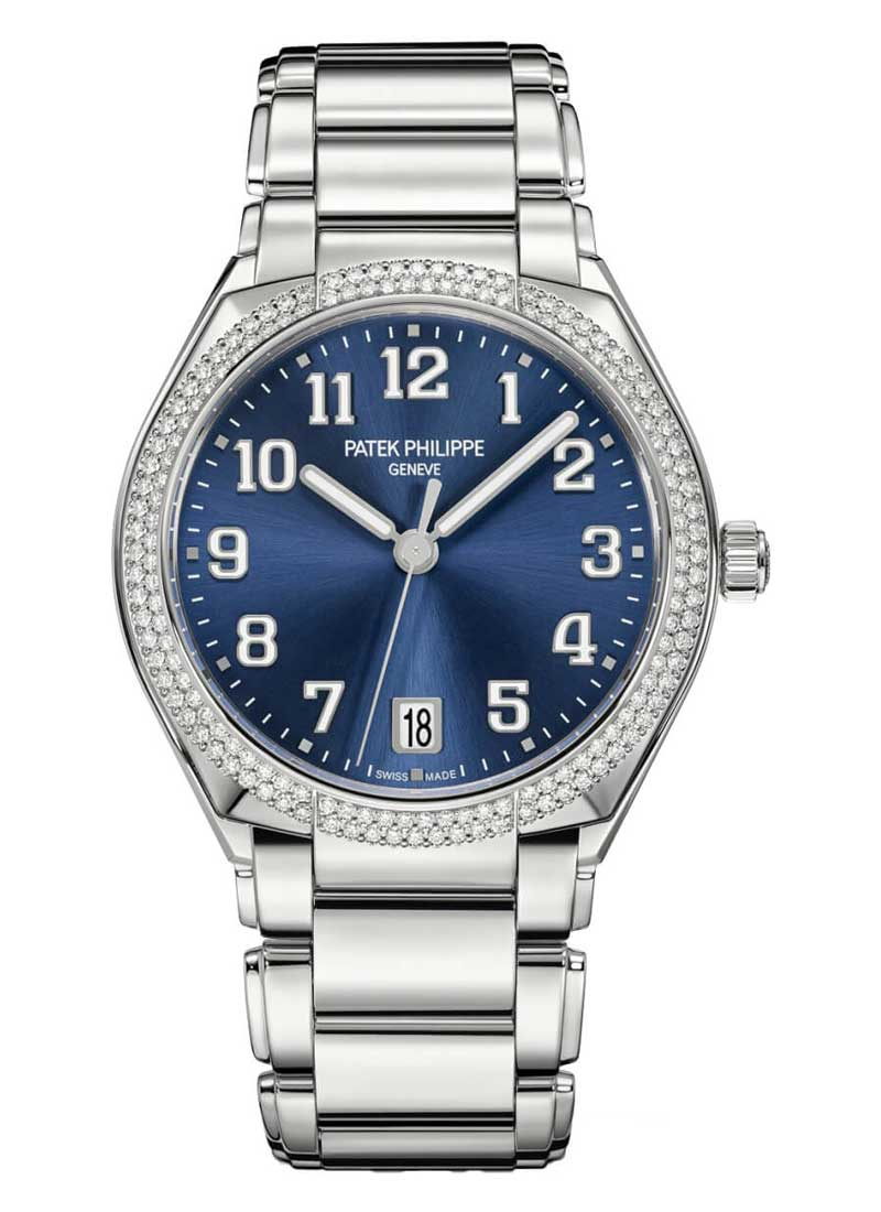 Patek Philippe Twenty-4 in Steel with Diamond Bezel