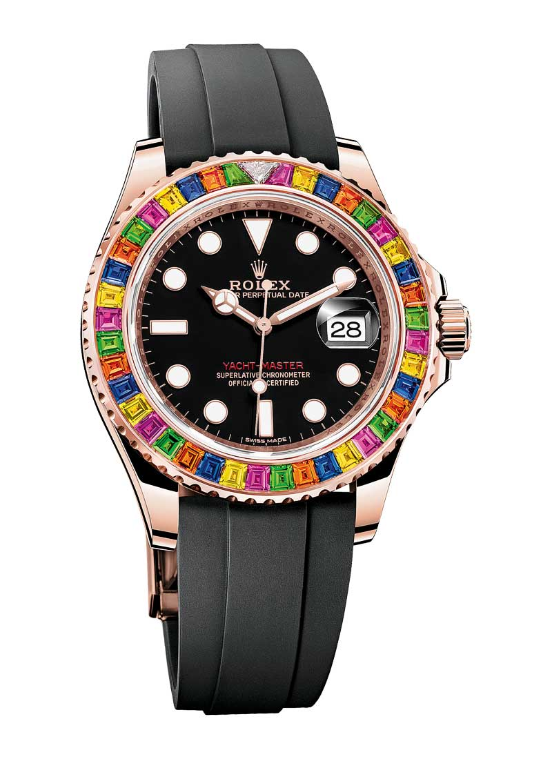Pre-Owned Rolex Yacht Master 40mm in Rose Gold with Diamond Bezel