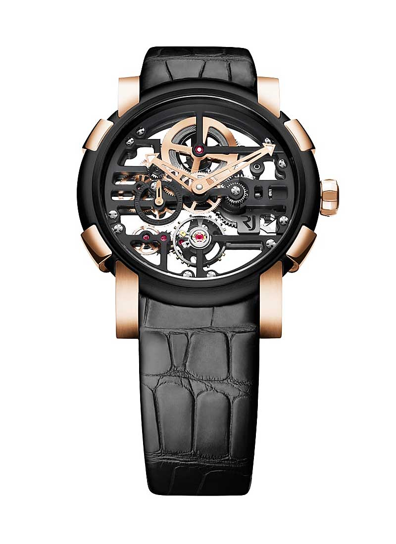 Romain Jerome 1969 Skylab in Black PVD-Coated Steel with Rose Gold