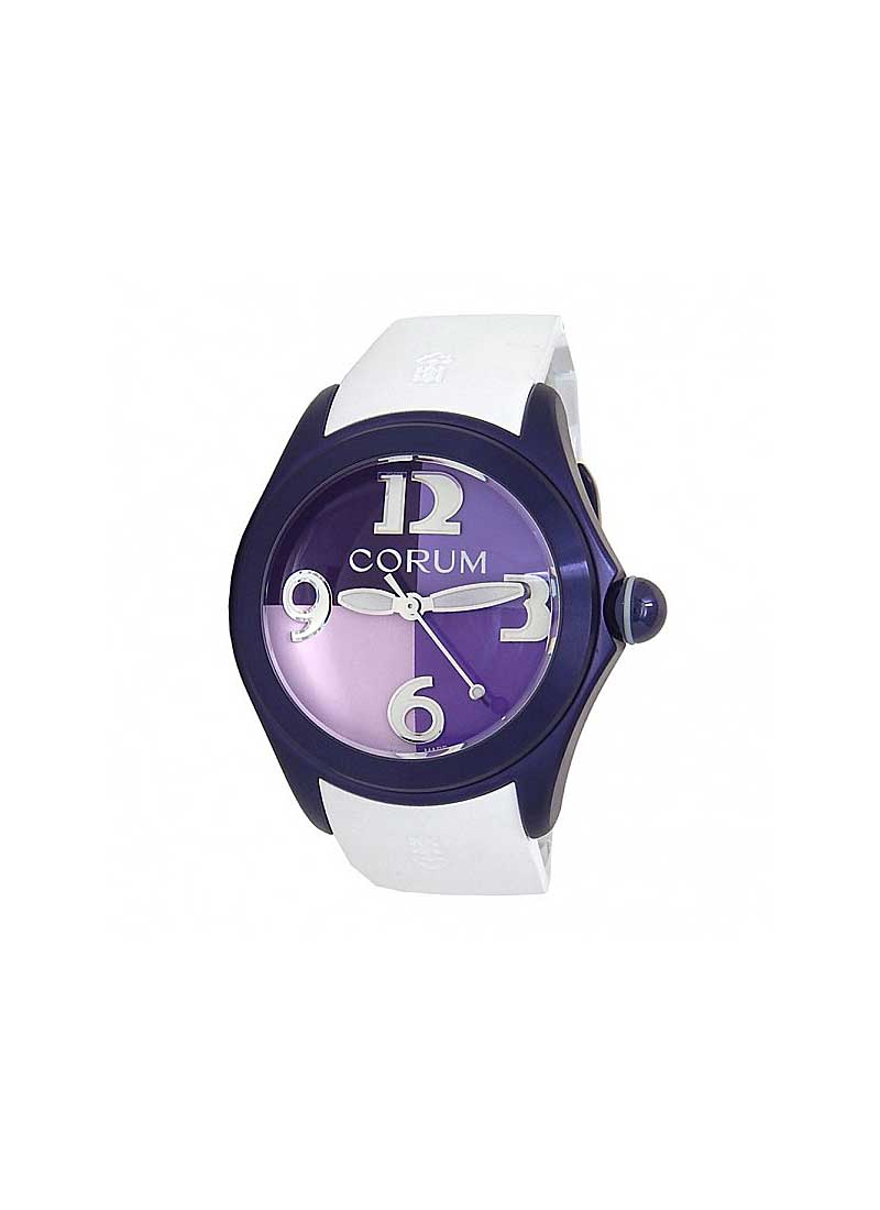 Corum Bubble 42 4 Colours purple in Purple PVD Stainless Steel