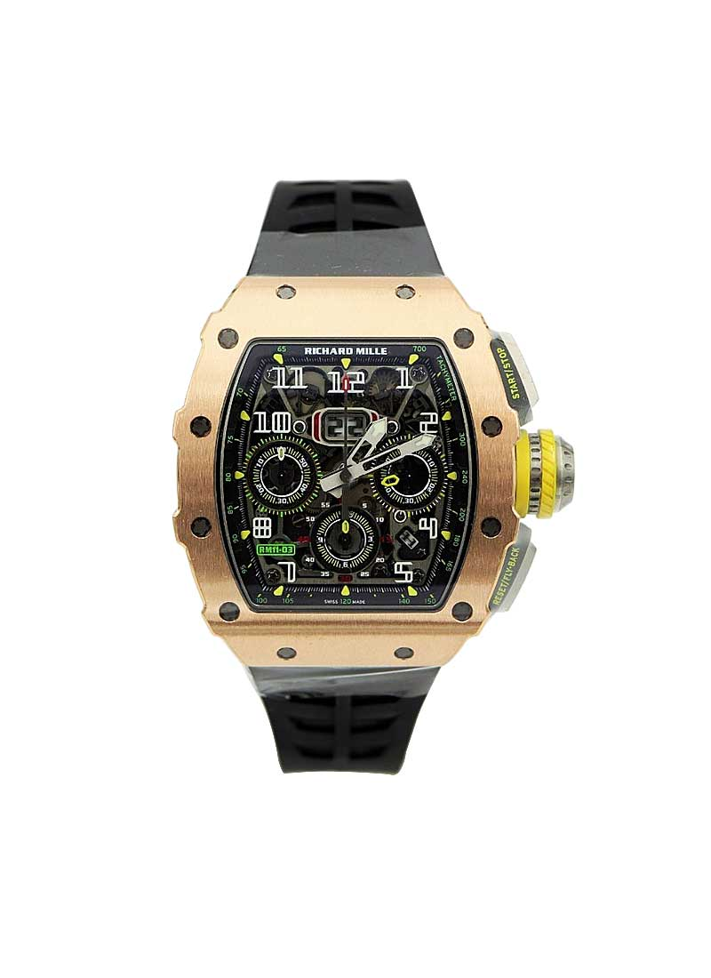 Richard Mille RM 011-03  Flyback Chronograph in Rose Gold and Titanium