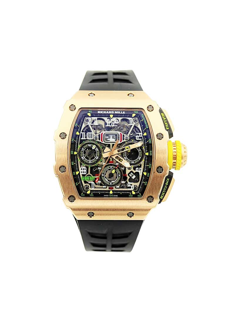 Richard Mille RM 11-03 Flyback Chronograph in Rose Gold and Titanium