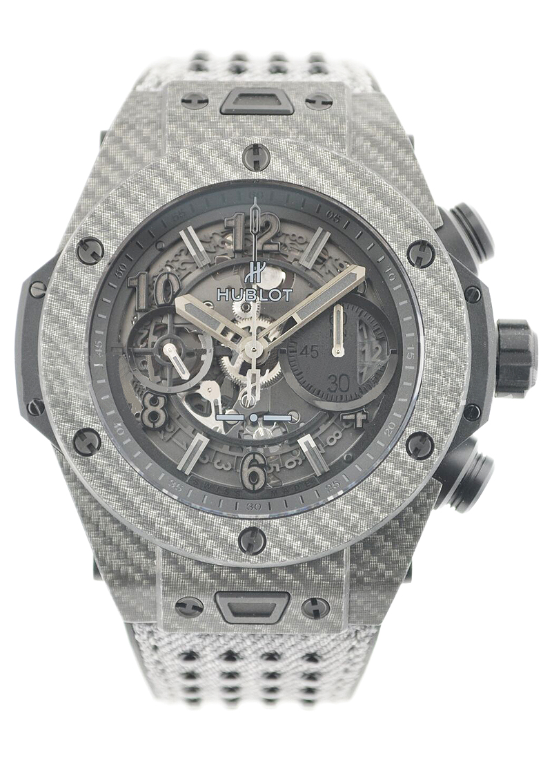 Hublot Big Bang Unico Italia Independent 45mm in Carbon Fiber with Grey Texalium