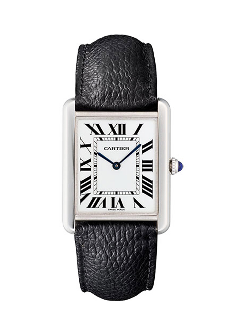 Cartier Tank Solo Mens Medium Quartz in Steel