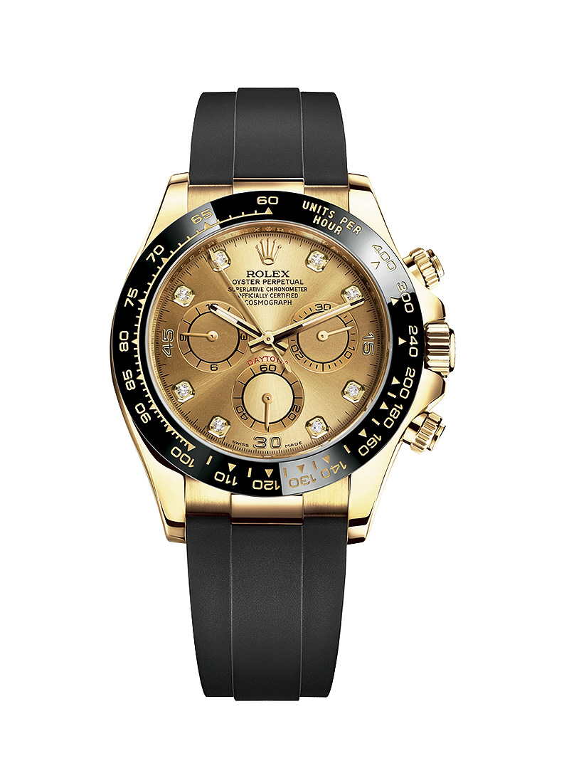 Rolex Unworn Daytona Cosmograph in Yellow Gold with Black Ceramic Bezel