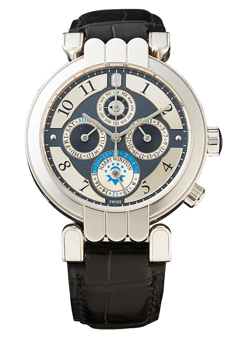 Harry Winston Premier Perpetual Calendar GMT 38mm in White Gold