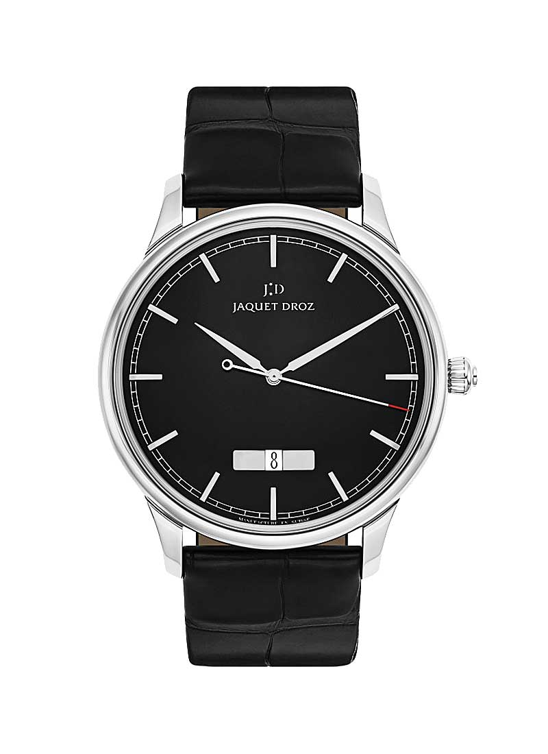 Jaquet Droz Astrale Grande Heure Minute Calendar 43mm Automatic in Steel