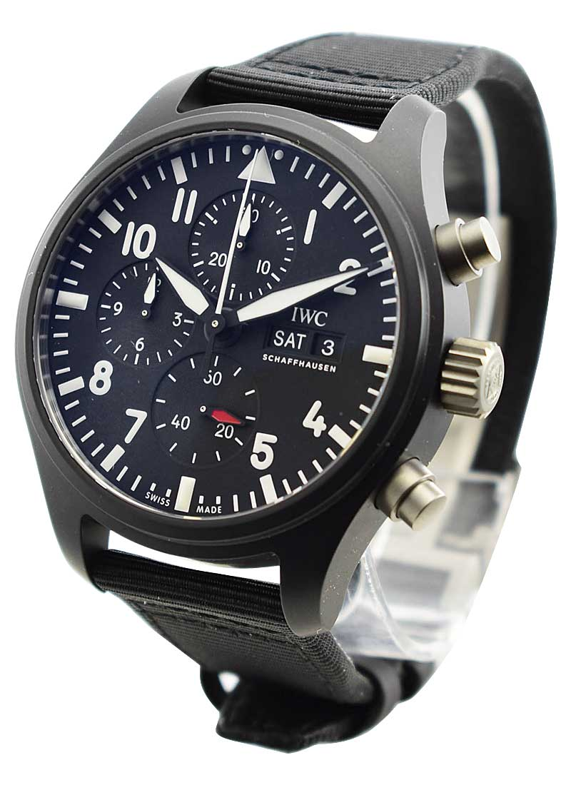 IWC Pilots Chronograph Top Gun in Black Ceramic