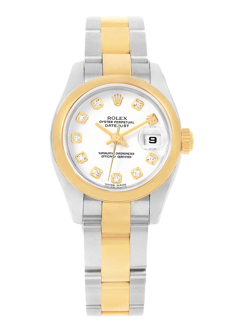 Pre-Owned Rolex Lady 2-Tone Datejust in Steel with Yellow Gold Smooth Bezel