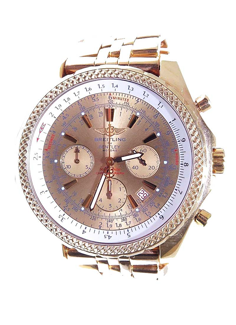 Breitling Bentley 6.75 in Rose Gold