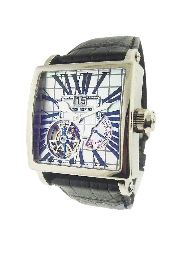 Roger Dubuis 40mm Golden Square Tourbillon with White Gold
