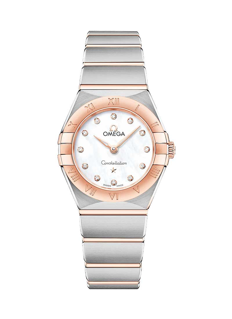 Omega Constellation Manhattan 25mm in Steel with Rose Gold Bezel