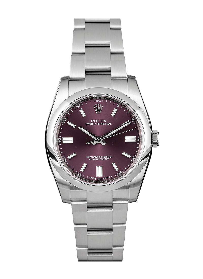 Pre-Owned Rolex Oyster Perpetual 36mm No Date in Steel with Smooth Bezel