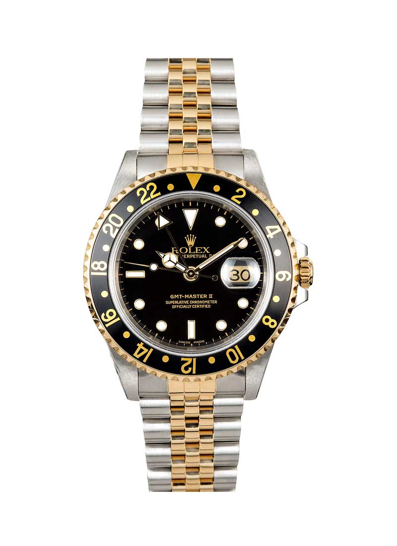Pre-Owned Rolex GMT-Master 40mm in Steel with Yellow Gold Black Bezel