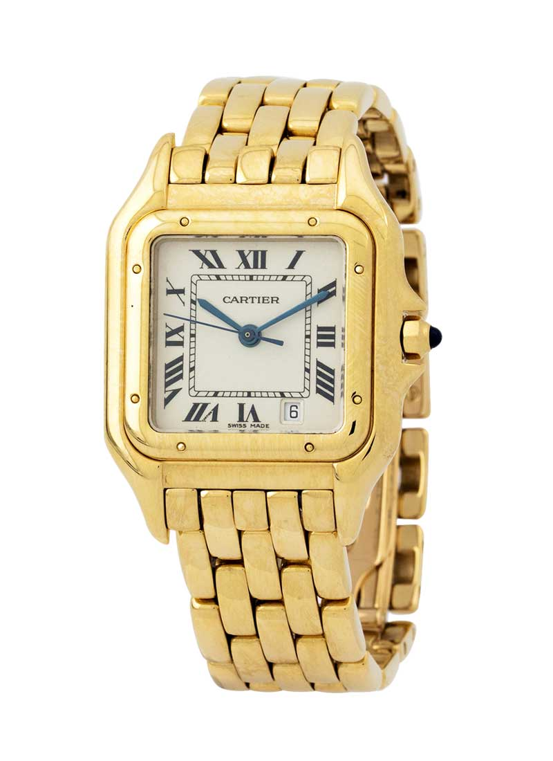 Cartier Panthere Large Size Date in Yellow Gold