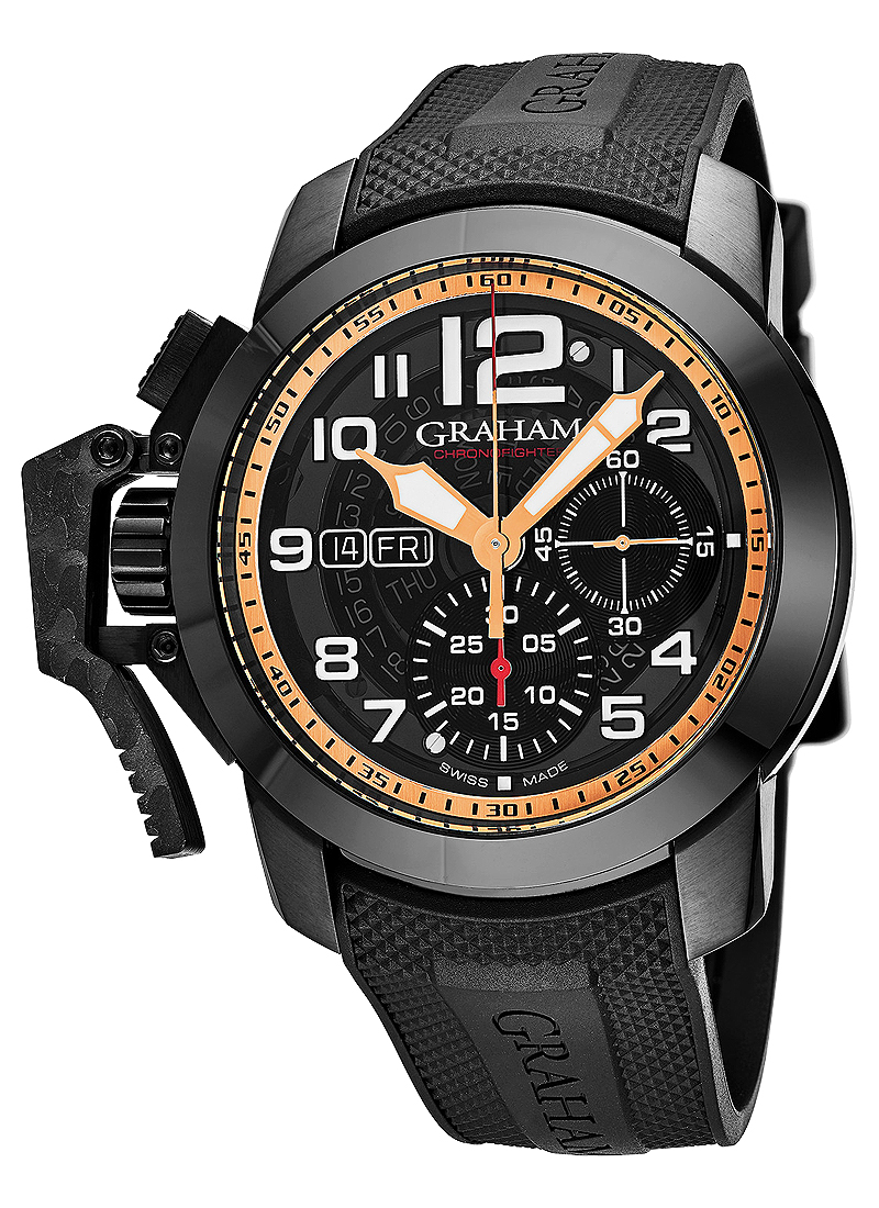 Graham Chronofighter Target 47mm Automatic in Black PVD
