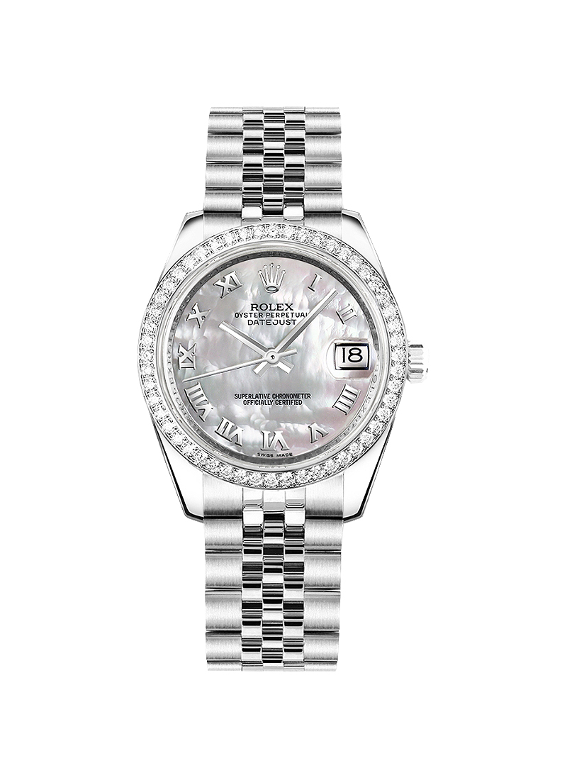 Pre-Owned Rolex Datejust 31mm in Steel with Diamonds Bezel