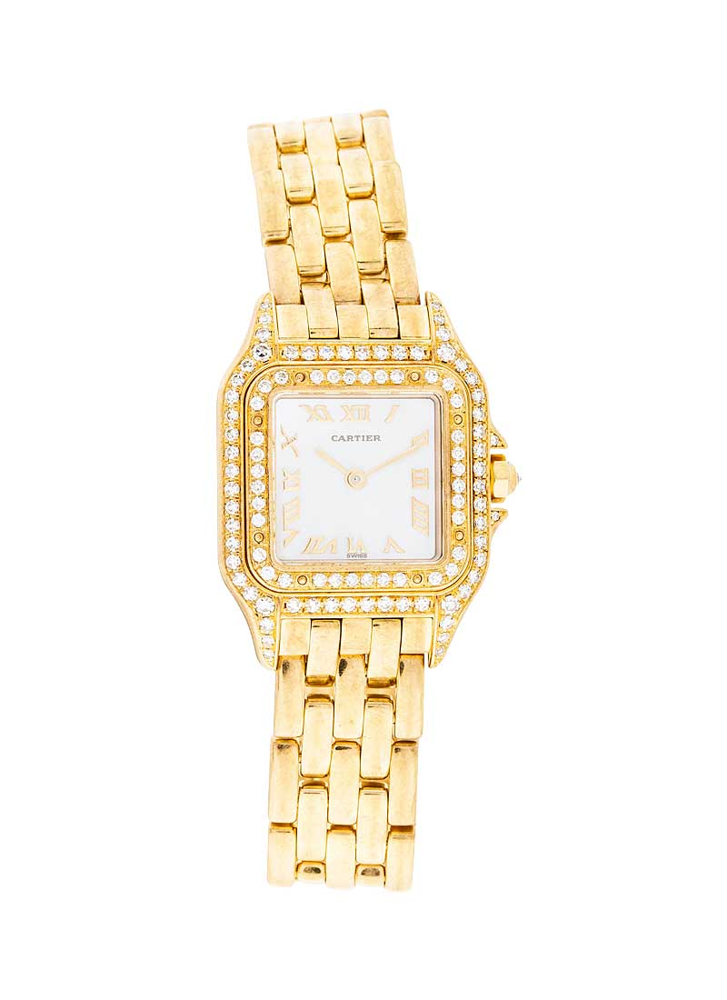 Cartier Panthere 22mm No Date in Yellow Gold with Diamond Bezel & Lugs