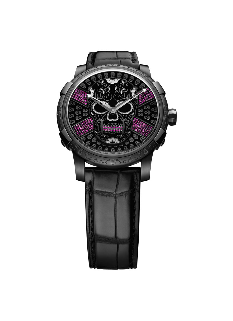 Romain Jerome Dia de los Muertos Clasico in Black PVD Steel