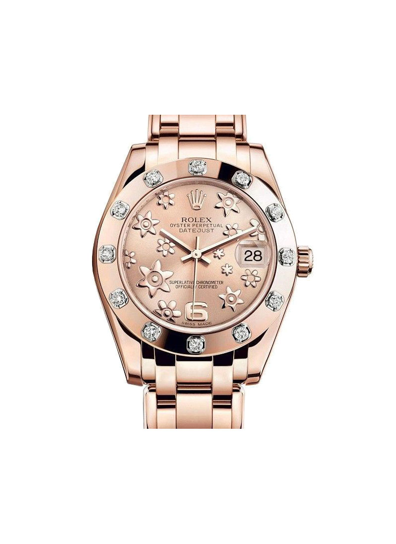 Rolex Unworn Masterpiece 34mm in Rose Gold with 12 Diamond Bezel