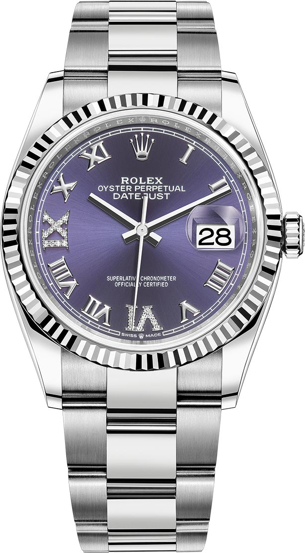 Rolex Unworn Datejust 36mm in Steel and White Gold Fluted Bezel