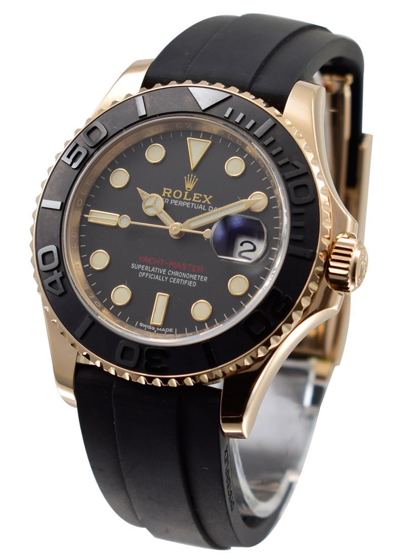 Rolex Unworn Yachtmaster 40mm in Rose Gold with Black Bezel