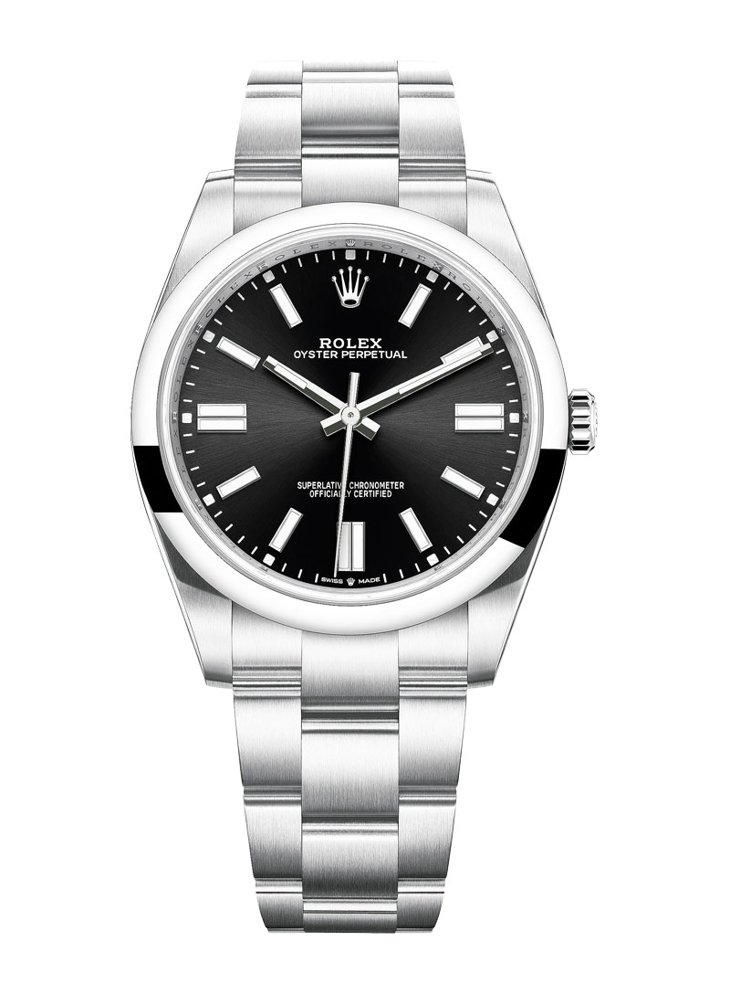 Pre-Owned Rolex Oyster Perpetual 41mm in Steel with Domed Bezel