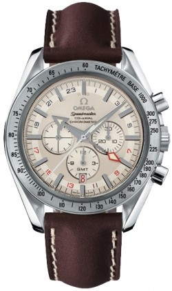 Omega Speedmaster Broad Arrow GMT Chronograph 44mm in Steel